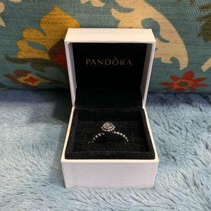 Pandora Birthday Bloom June Ring Moonstone 60